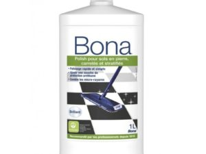 BONA POLISH -Sols en pierre, Carrelés ou Stratifiés -Brillants- 1 L